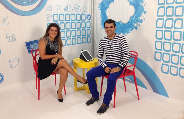O blogueiro Bruno Figueredo a designer de acessórios das estrelas, Pri Schiavinato