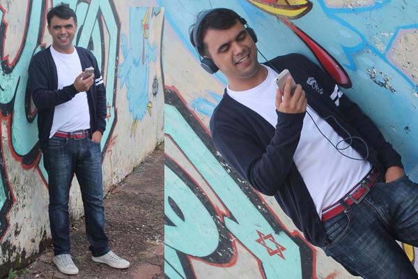 Look do dia do blogueiro de moda Bruno Figueredo - que veste Zara, Mr Kitsch, Ellus, Calvin Klein, Urbanears fone de iPhone - Uberlândia MG Brasil Minas Gerais