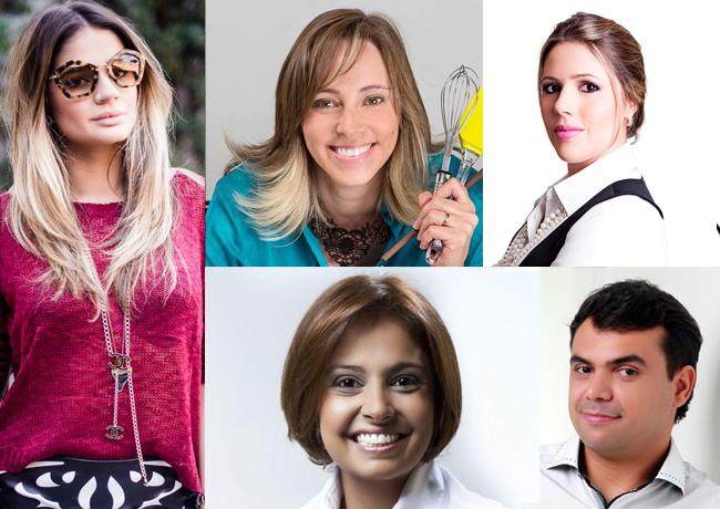 Painel de Blogs da Feniu com Thássia Naves, Bruno Figueredo, Janaína Depiné, Dani Oliveira e Carol Siqueira.