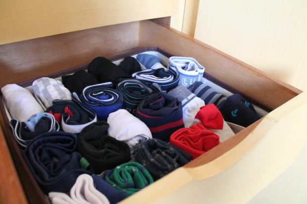 O blogueiro Bruno Figueredo mostra como ficou a gaveta de cuecas.