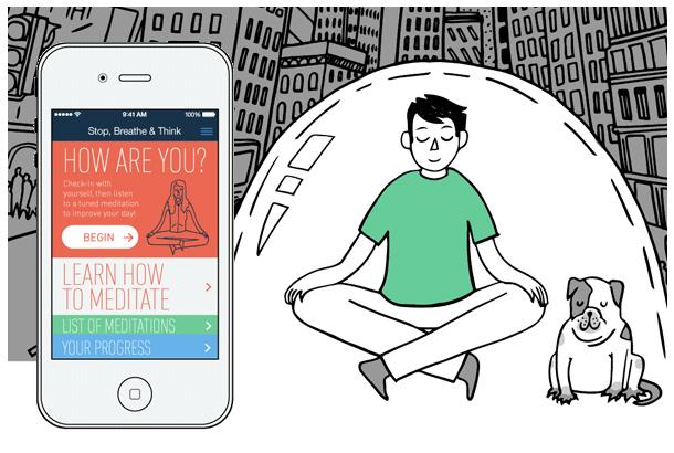 App Stop Breathe e Think selecionado por Bruno Figueredo como um dos 5 melhores app criados para relaxar