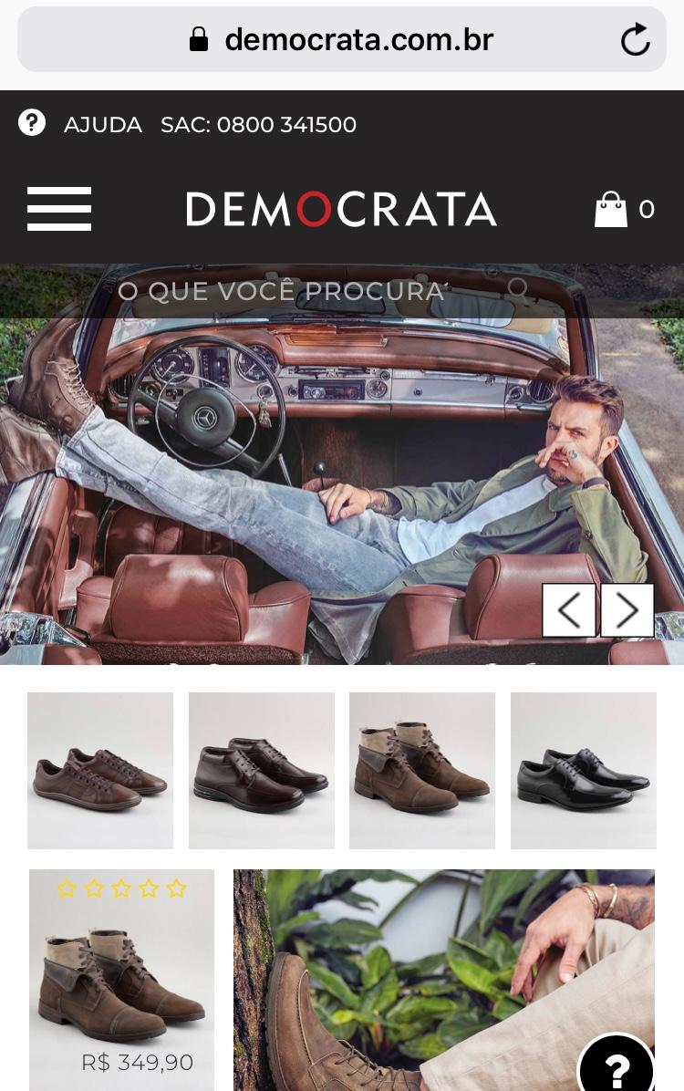 6457e0a5ad lojas-para-comprar-sapatos-pela-internet -loja-democrata-blog-bruno-figueredo-uberlandia-mg